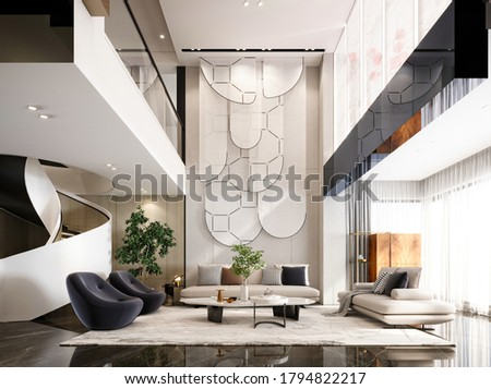 3d render of lucury hotel reception and lobby Zdjęcia stock ©