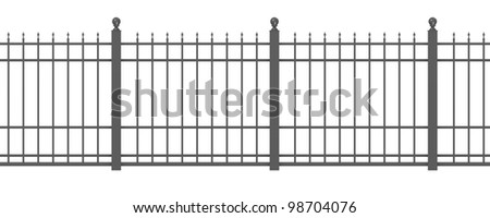 3d render of metal fence
