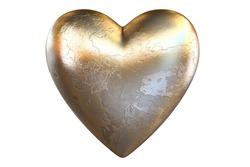 3d render of metalic heart