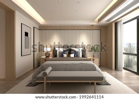 3d render of modern bedroom