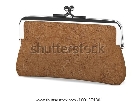 3d render of money purse