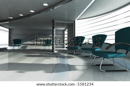 3d render of office interior