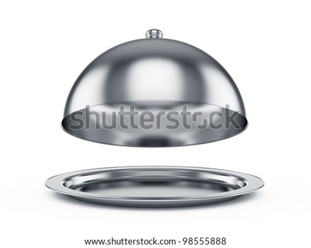 3d render of opened cloche, isolated on white background