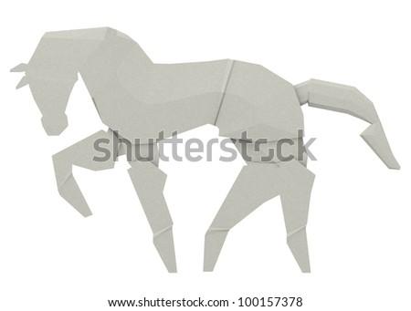 3d render of origami animal