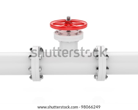 3d render of pipeline on white background
