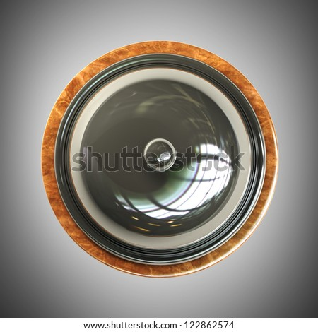 3d render of Reception bell. High resolution