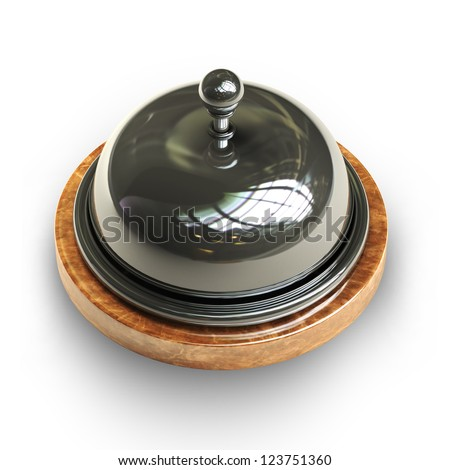 3d render of Reception bell isolated on white background High resolution