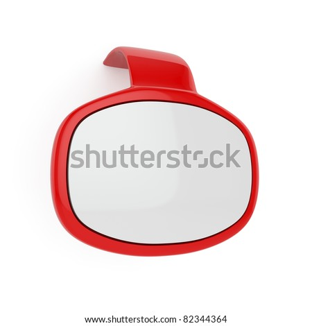 3d render of red bubble speech window isolated on white - stock photo