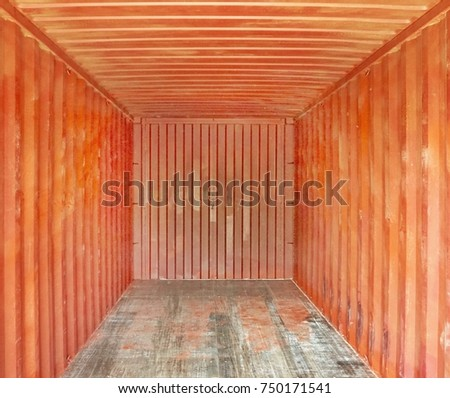 3d render of red cargo container                              #750171541