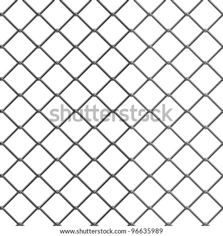 3d render of seamless fence chain