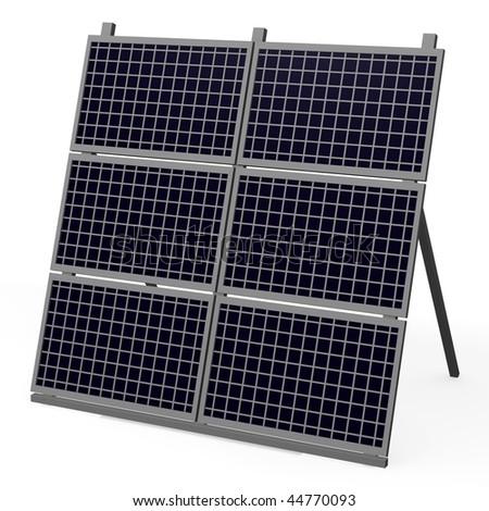 3d render of solar panel