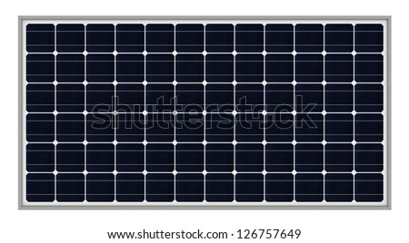 3d render of solar panels isolated over white background