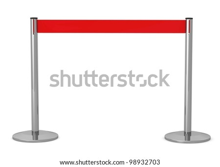3d render of  stand barrier