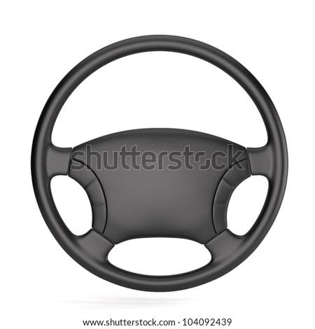 3d render of steering wheel isolated