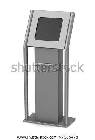 3d render of terminal with screen