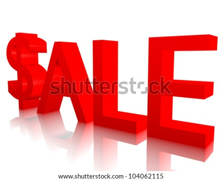 3d Render of the Word Sale - stock photo