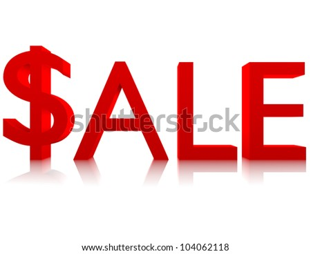 3d Render of the Word Sale