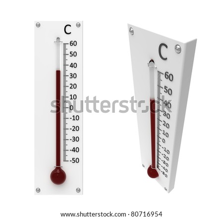 3d render of  thermometer on a white background