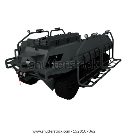 3D render of UGV unmanned ground vehicle for special forces combat assistance