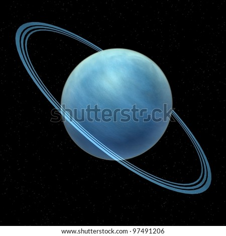 3d render of uranus planet