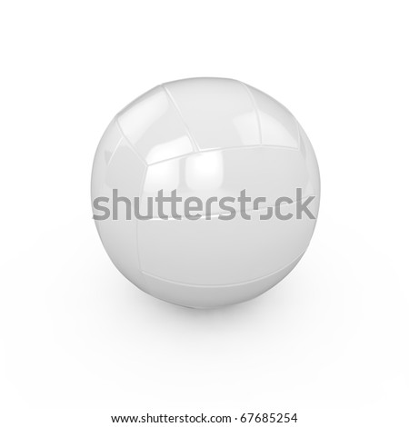 3d render of valleyball isolated on white background