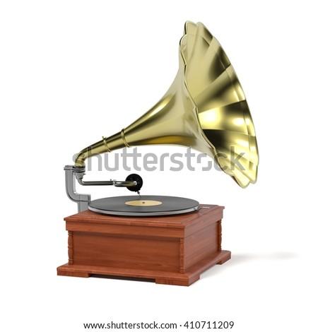 3d render of vintage gramophone #410711209