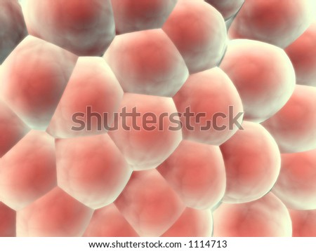 3d render of wall of organic cells