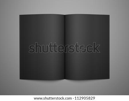 3d render open black book