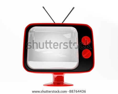 3D render Retro TV