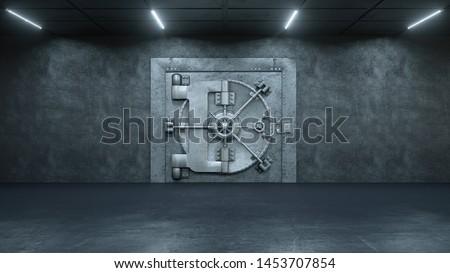 3d render The Vault Door In Bank Сток-фото ©