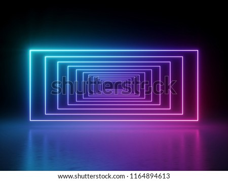 3d render, ultraviolet glowing lines, neon lights portal, abstract psychedelic background, product showcase template, vibrant colors, laser show