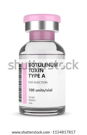 3d render with botulinum toxin type A vial