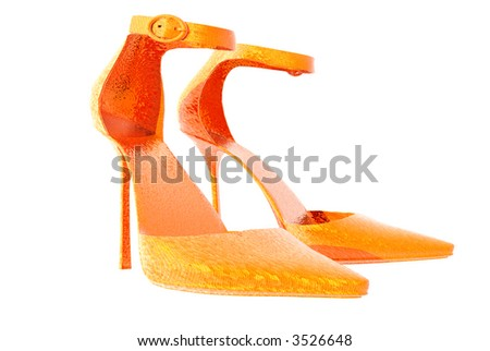 3D render womens high heel