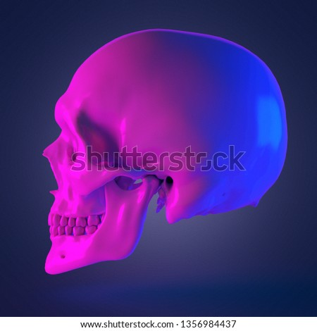 3d rendered abstract rendering of a skull