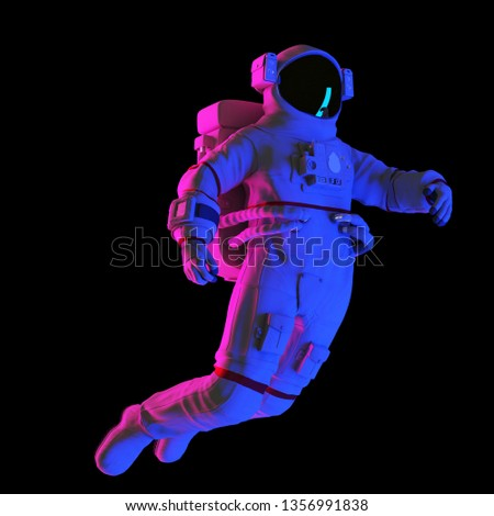 3d rendered abstract rendering of an astronaut