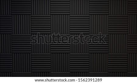 3d rendered acoustic panels studio background ストックフォト ©