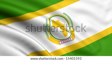 3d rendered and waving flag of african union