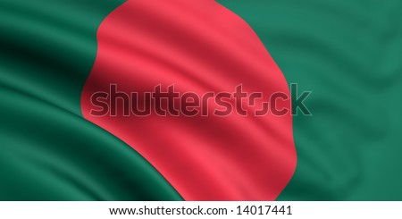 3d rendered and waving flag of bangladesh