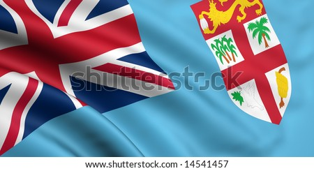 3d rendered and waving flag of fiji