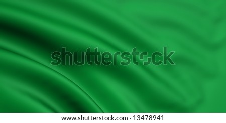 3d rendered and waving flag of libya