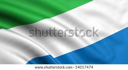 3d rendered and waving flag of sierra leone