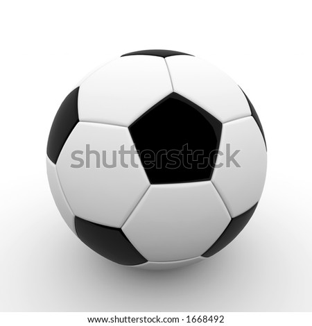 3d rendered ball - isolated