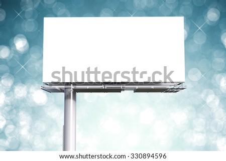 3d rendered blank green billboard