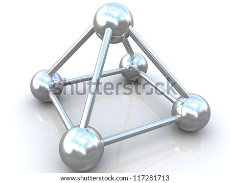 3D rendered  chemical element of molecule