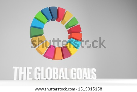 3D Rendered Colorful SDGs Wheel United Nation Sustainable Development Goals for Social Movement and Non Profit Organization Presentations or Report Background Website Slider Article