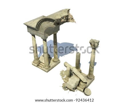 3D rendered fantasy ancient temple ruins