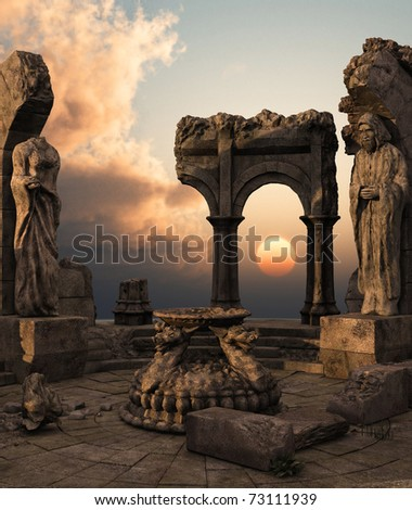 stock-photo--d-rendered-fantasy-ancient-