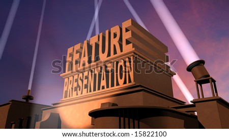 3D rendered Feature Presentation title