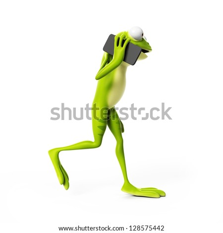 3d Rendered Funny Frog Stock Photo 128575442 : Shutterstock