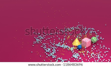 Stock Photo 3d Rendered Geometric Shapes, 4k Quality, 3d Background
